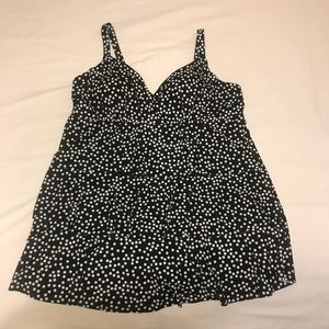 Black and White Polka Dot Bathing Suit